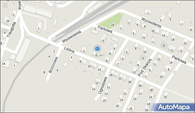 Andrychów, Leśna, 7, mapa Andrychów