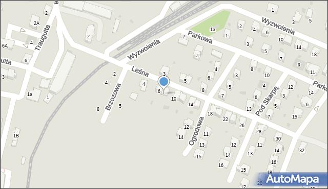 Andrychów, Leśna, 8, mapa Andrychów
