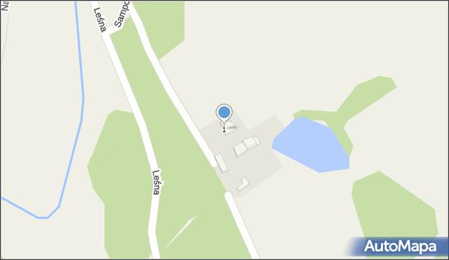 Barłomino, Leśna, 1, mapa Barłomino