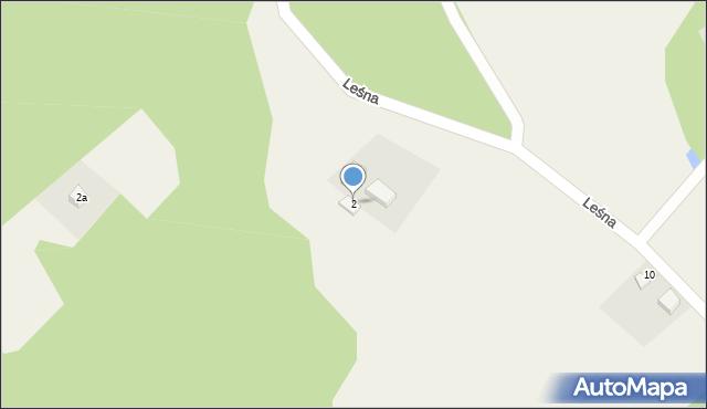 Barłomino, Leśna, 2, mapa Barłomino