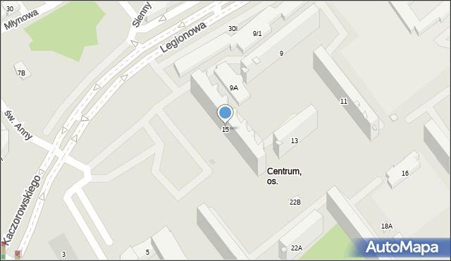 Białystok, Legionowa, 15, mapa Białegostoku