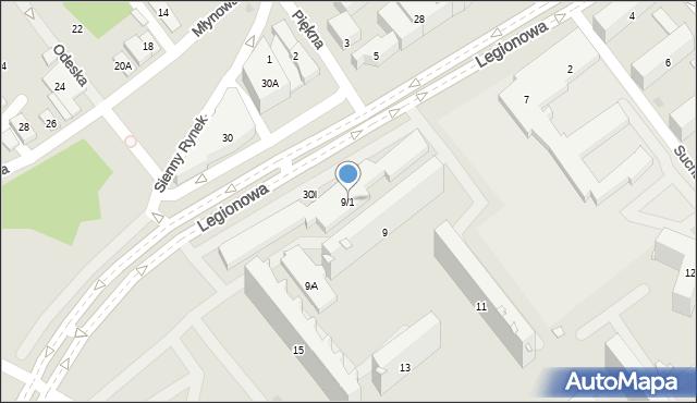 Białystok, Legionowa, 9/1, mapa Białegostoku