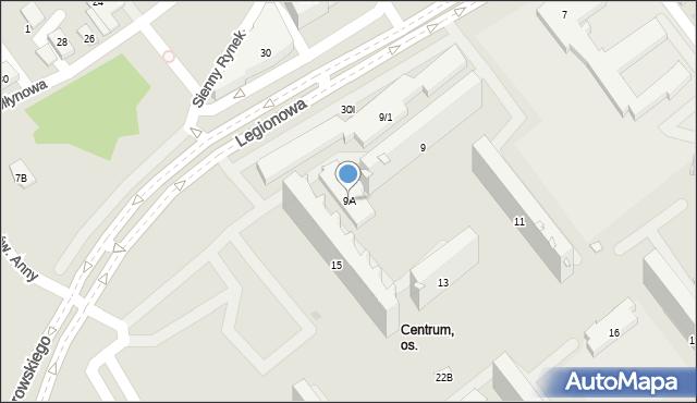 Białystok, Legionowa, 9A, mapa Białegostoku
