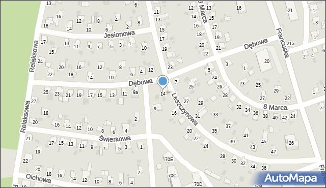 Bytom, Leszczynowa, 14, mapa Bytomia