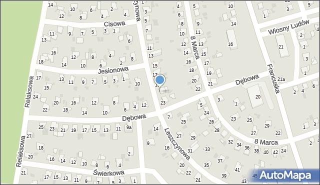 Bytom, Leszczynowa, 21, mapa Bytomia