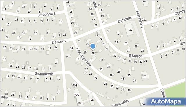 Bytom, Leszczynowa, 29, mapa Bytomia