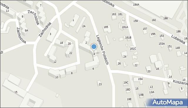 Chełm, Legionów Polskich, 4, mapa Chełma