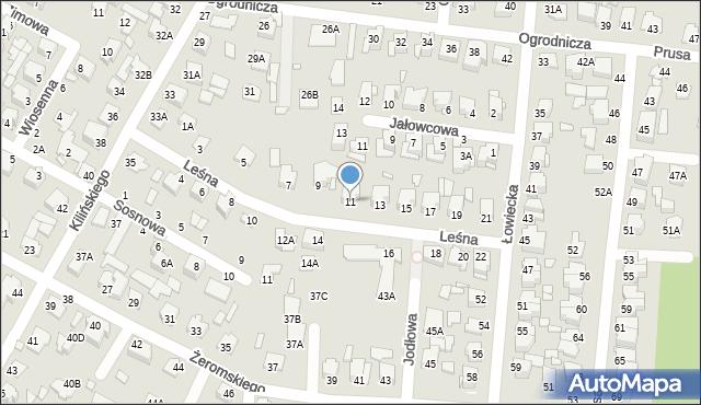 Chełm, Leśna, 11, mapa Chełma