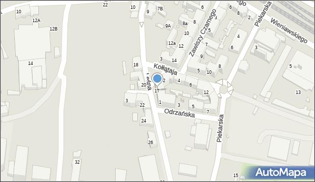 Chorzów, Leśna, 17, mapa Chorzów