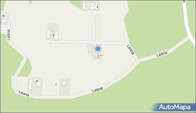 Frydrychowice, Leśna, 1, mapa Frydrychowice