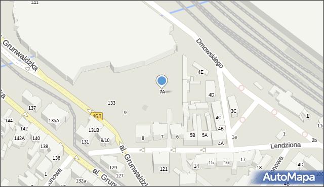 Gdańsk, Lendziona Antoniego, 7A, mapa Gdańska