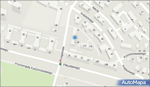 Gdynia, Legionów, 17, mapa Gdyni