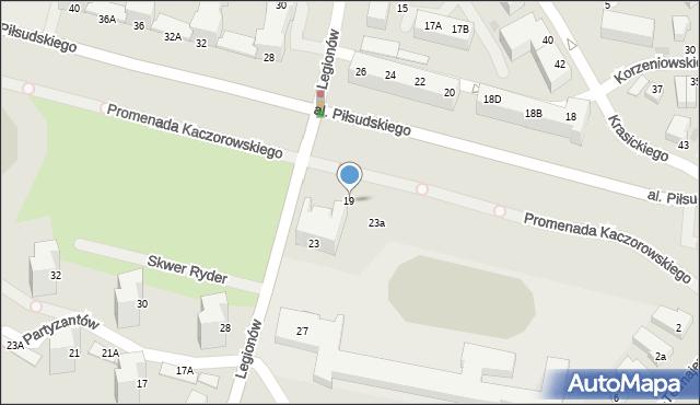 Gdynia, Legionów, 19, mapa Gdyni