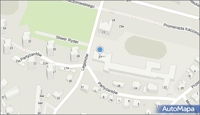Gdynia, Legionów, 27, mapa Gdyni