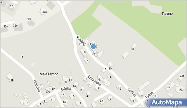 Grudziądz, Leśna, 12, mapa Grudziądza