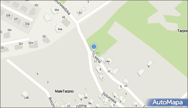 Grudziądz, Leśna, 16, mapa Grudziądza