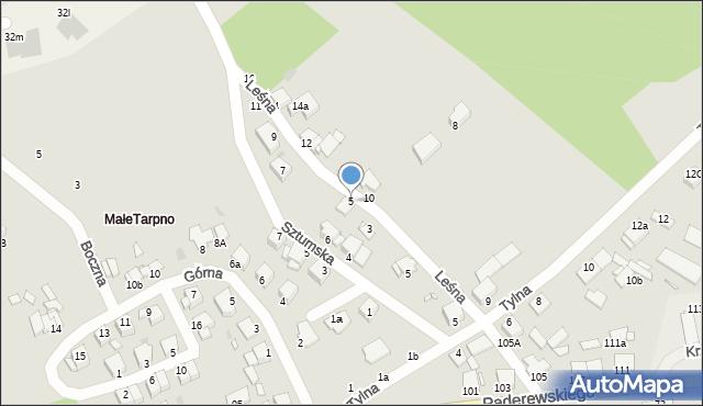 Grudziądz, Leśna, 5, mapa Grudziądza