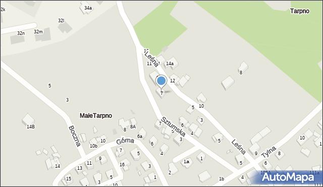 Grudziądz, Leśna, 7, mapa Grudziądza