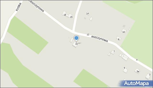 Grudziądz, Leszczynowa, 11, mapa Grudziądza