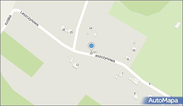 Grudziądz, Leszczynowa, 12, mapa Grudziądza