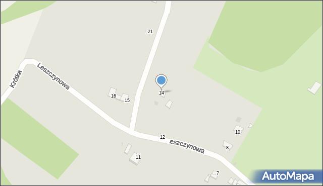 Grudziądz, Leszczynowa, 14, mapa Grudziądza