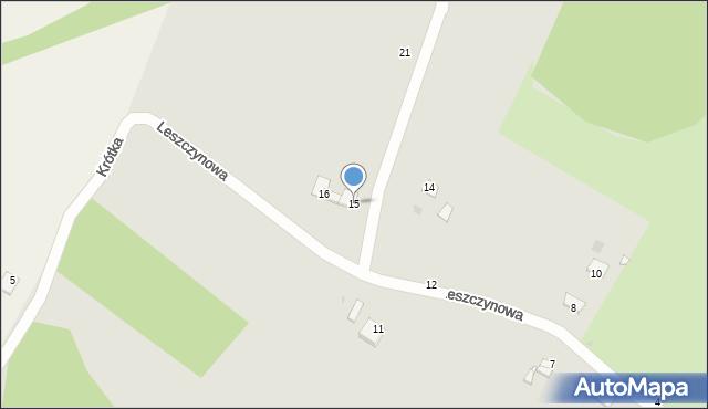 Grudziądz, Leszczynowa, 15, mapa Grudziądza