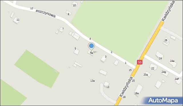 Grudziądz, Leszczynowa, 5a, mapa Grudziądza