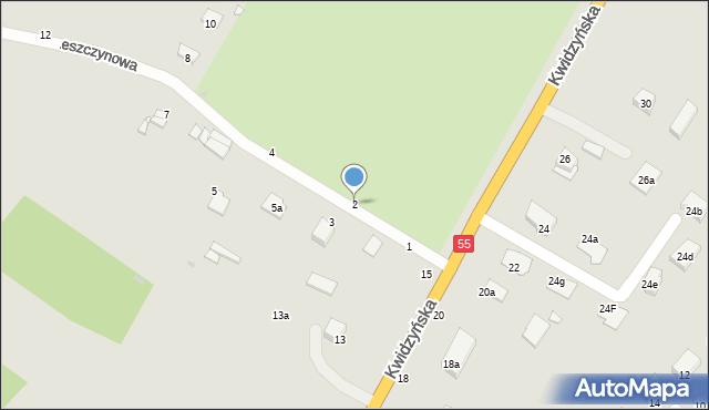 Grudziądz, Leszczynowa, 6, mapa Grudziądza
