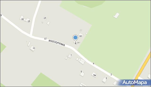 Grudziądz, Leszczynowa, 8, mapa Grudziądza