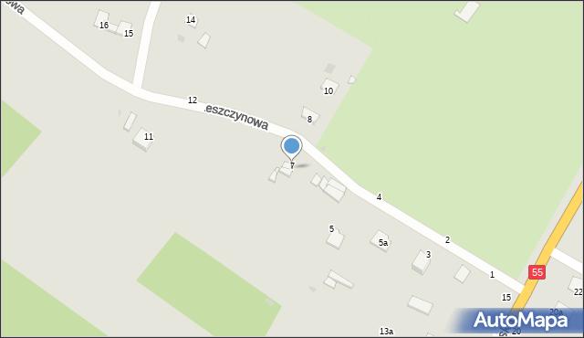 Grudziądz, Leszczynowa, 9, mapa Grudziądza