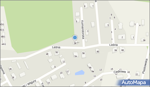 Kębłowo, Leśna, 29, mapa Kębłowo
