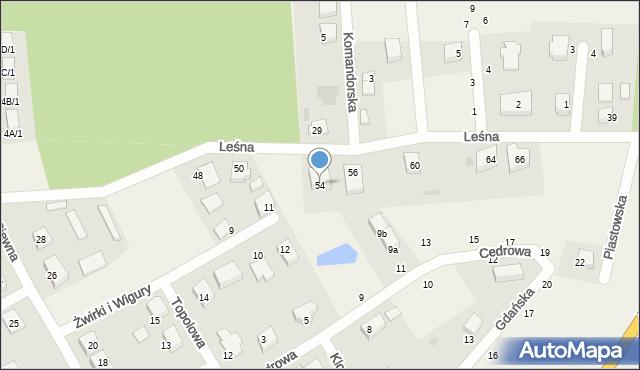 Kębłowo, Leśna, 54, mapa Kębłowo