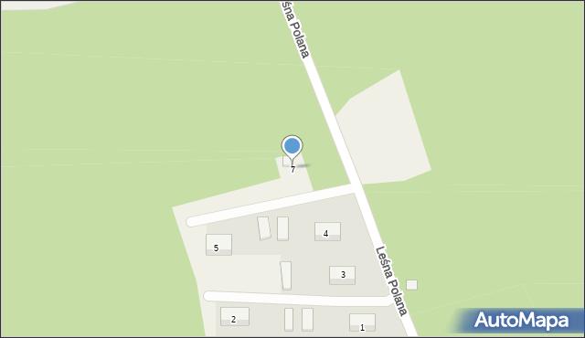 Kębłowo, Leśna Polana, 7, mapa Kębłowo