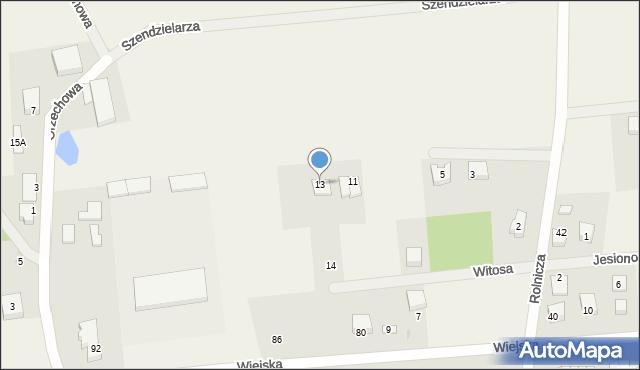 Kębłowo, Leszczynowa, 13, mapa Kębłowo