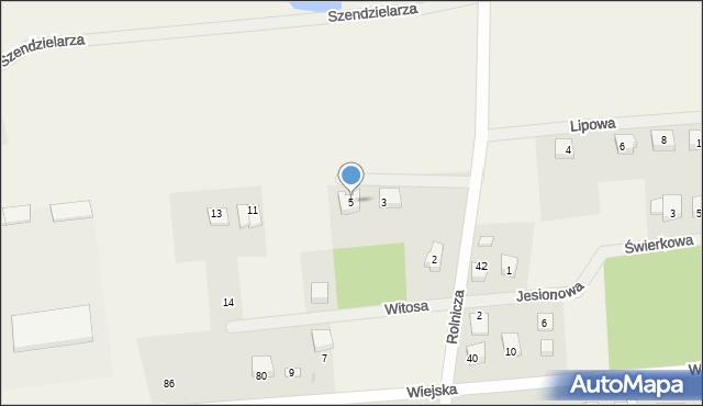 Kębłowo, Leszczynowa, 5, mapa Kębłowo