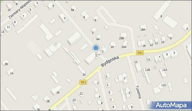 Kętrzyn, Leśna, 1, mapa Kętrzyn