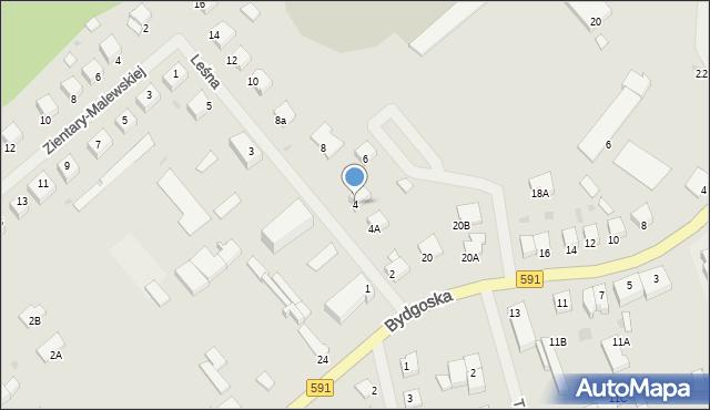 Kętrzyn, Leśna, 4, mapa Kętrzyn