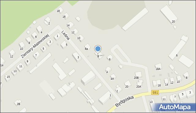 Kętrzyn, Leśna, 8, mapa Kętrzyn
