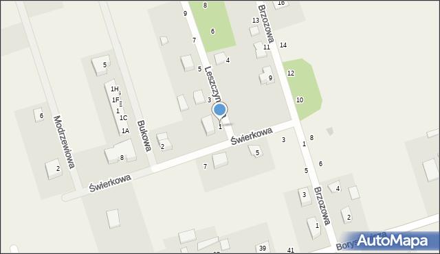 Kochanowo, Leszczynowa, 1, mapa Kochanowo