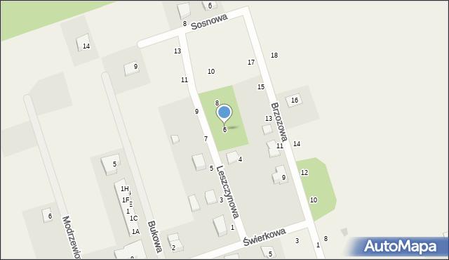 Kochanowo, Leszczynowa, 6, mapa Kochanowo