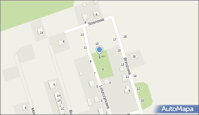Kochanowo, Leszczynowa, 8, mapa Kochanowo