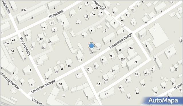 Krosno, Lewakowskiego Augusta, 12, mapa Krosna