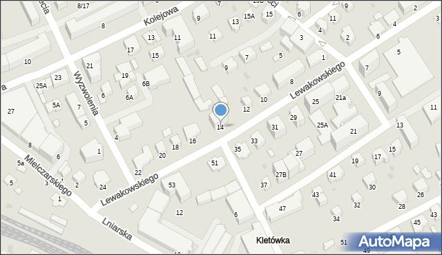 Krosno, Lewakowskiego Augusta, 14, mapa Krosna