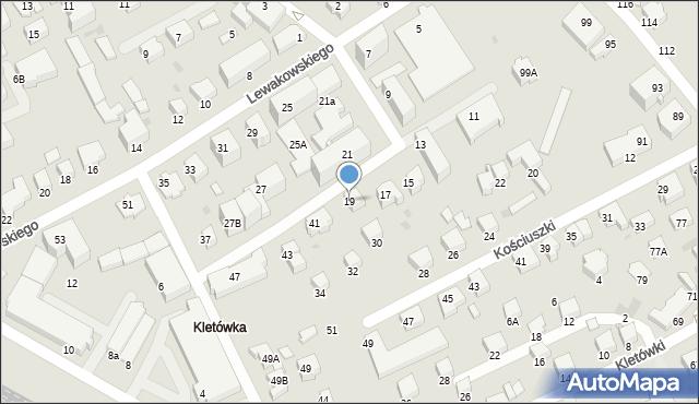 Krosno, Lewakowskiego Augusta, 19, mapa Krosna