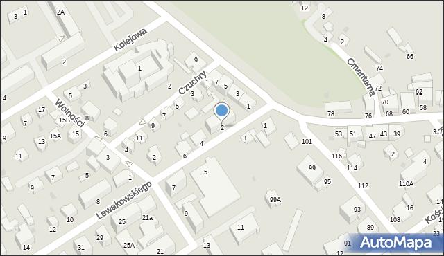 Krosno, Lewakowskiego Augusta, 2, mapa Krosna