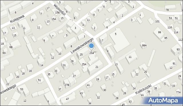 Krosno, Lewakowskiego Augusta, 21a, mapa Krosna