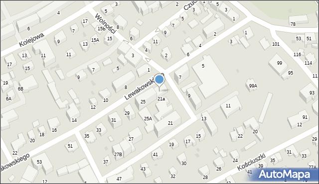 Krosno, Lewakowskiego Augusta, 23, mapa Krosna