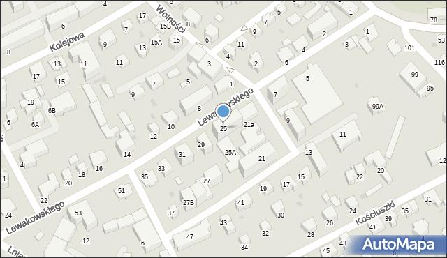 Krosno, Lewakowskiego Augusta, 25, mapa Krosna