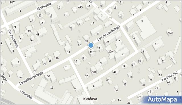 Krosno, Lewakowskiego Augusta, 31, mapa Krosna