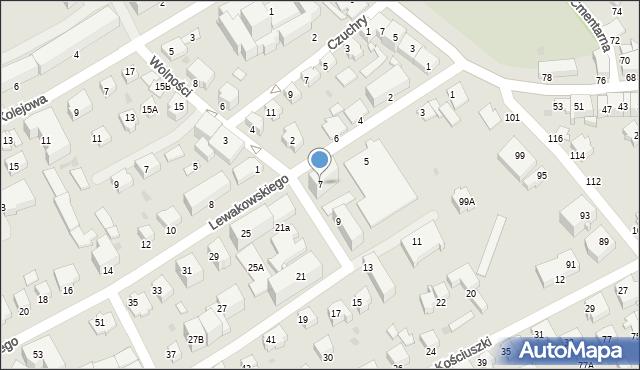 Krosno, Lewakowskiego Augusta, 7, mapa Krosna